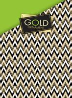 Купить Апплика Тетрадь со сменным блоком Паттерн на золотом 100 листов в клетку, Тетради