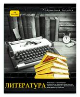 Купить Проф-Пресс Тетрадь Контрасты Литература 48 листов в линейку, Тетради