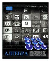Купить Проф-Пресс Тетрадь Контрасты Алгебра 48 листов в клетку, Тетради
