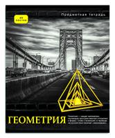 Купить Проф-Пресс Тетрадь Контрасты Геометрия 48 листов в клетку, Тетради
