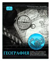 Купить Проф-Пресс Тетрадь Контрасты География 48 листов в клетку, Тетради