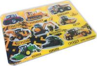 Купить BeeZee Toys Обучающая игра Машинки магнитные с сортером Спецтехника, Обучение и развитие