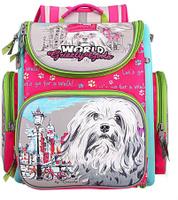 Купить Grizzly Рюкзак школьный с мешком цвет фуксия RA-871-1/1, Ранцы и рюкзаки