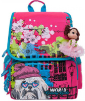 Купить Grizzly Рюкзак школьный цвет фуксия голубой RA-877-1/1, Ранцы и рюкзаки