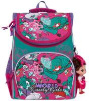 Купить Grizzly Рюкзак школьный с мешком цвет фуксия мятный RA-873-3/1, Ранцы и рюкзаки