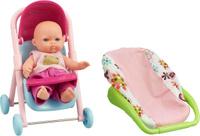 Купить ABtoys Пупс Мой малыш в коляске с люлькой-переноской, Куклы и аксессуары