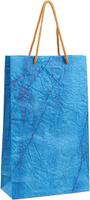 Купить Пакет подарочный Дизайнерский , цвет: синий, 28 х 17 х 7 см. 2728082, Подарочная упаковка
