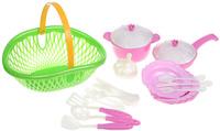 Купить Нордпласт Игрушечный набор посуды Кухонный сервиз Волшебная хозяюшка цвет зеленый розовый, Сюжетно-ролевые игрушки