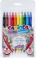 Купить Carioca Набор фломастеров Birello двусторонние 10 цветов, Фломастеры