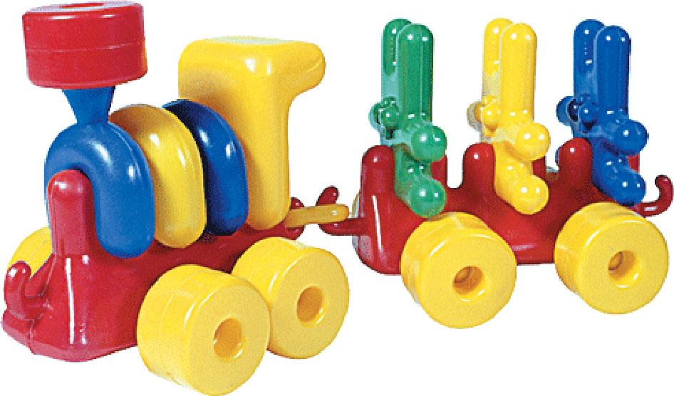 Купить Локомотив с зайцами, Строим вместе счастливое детство (СВСД), Первые игрушки