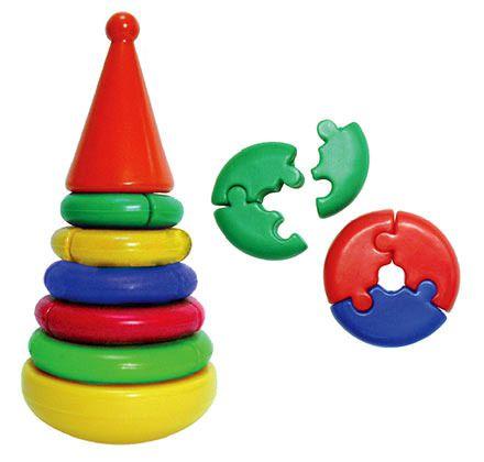 Купить Пирамидка Логика , Строим вместе счастливое детство (СВСД), Развивающие игрушки