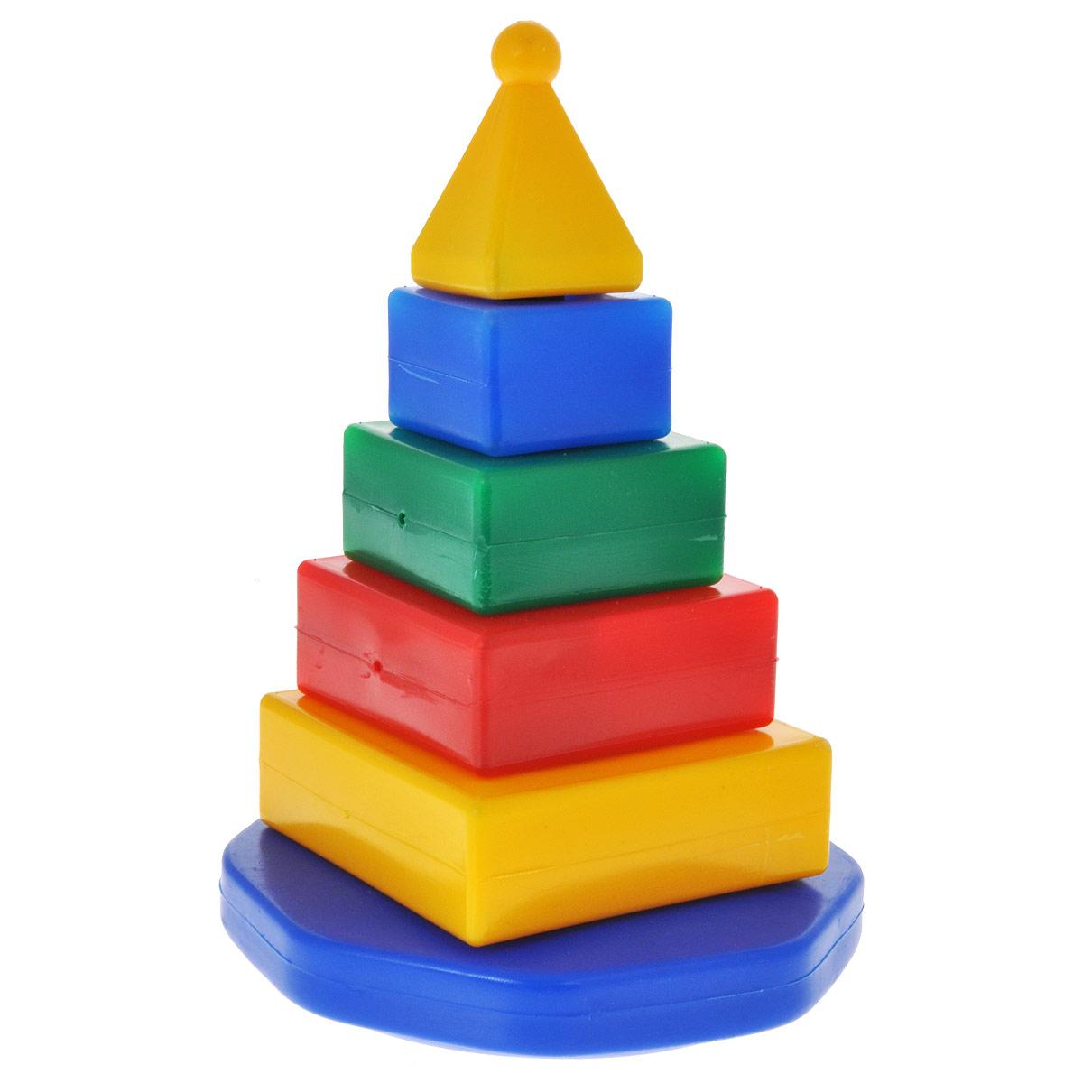 Купить Пирамидка Квадро , Строим вместе счастливое детство, Развивающие игрушки