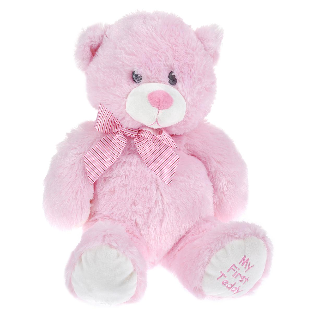 Купить Beanie Boo's Мягкая игрушка Медвежонок , цвет: розовый, 35 см, TY Inc, Мягкие игрушки
