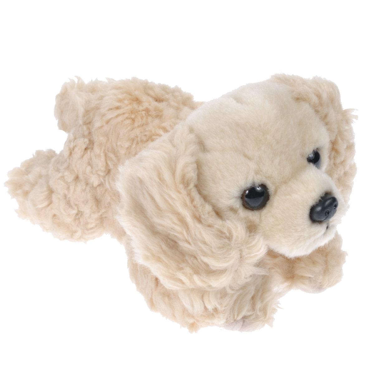 Купить Мягкая игрушка Aurora Бордер Кокер-спаниель , цвет: песочный, 22 см, Мягкие игрушки