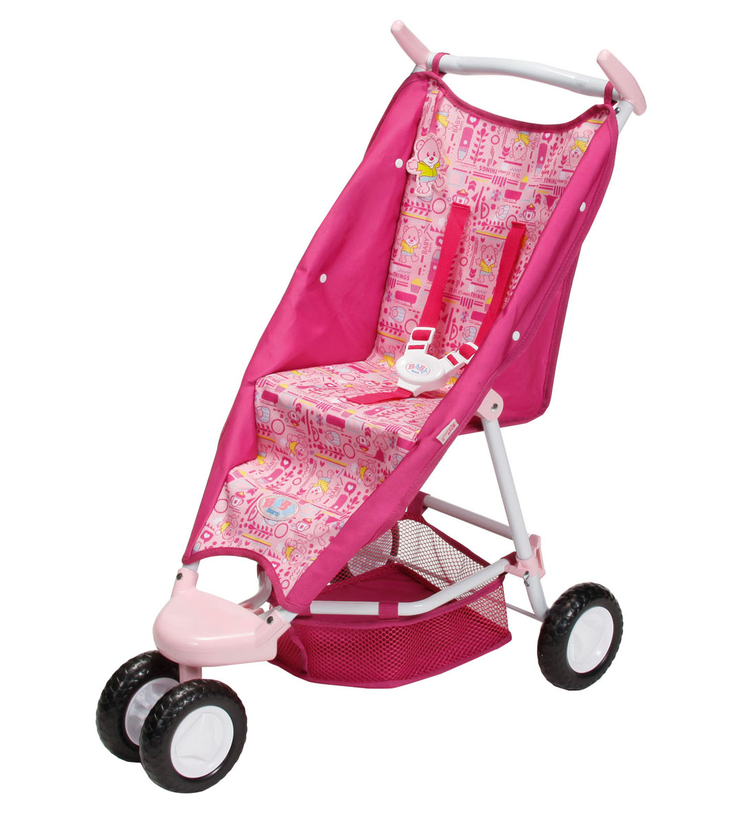 Купить Baby Born Транспорт для кукол Коляска прогулочная для куклы цвет светло-розовый малиновый, ZAPF Creation, Куклы и аксессуары