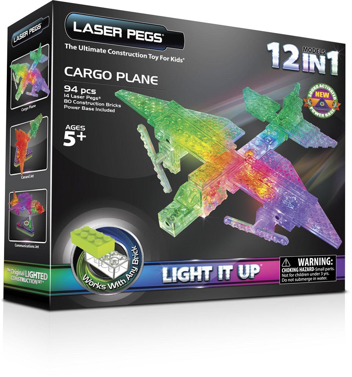 Купить Laser Pegs Конструктор Грузовой самолет 12 в 1