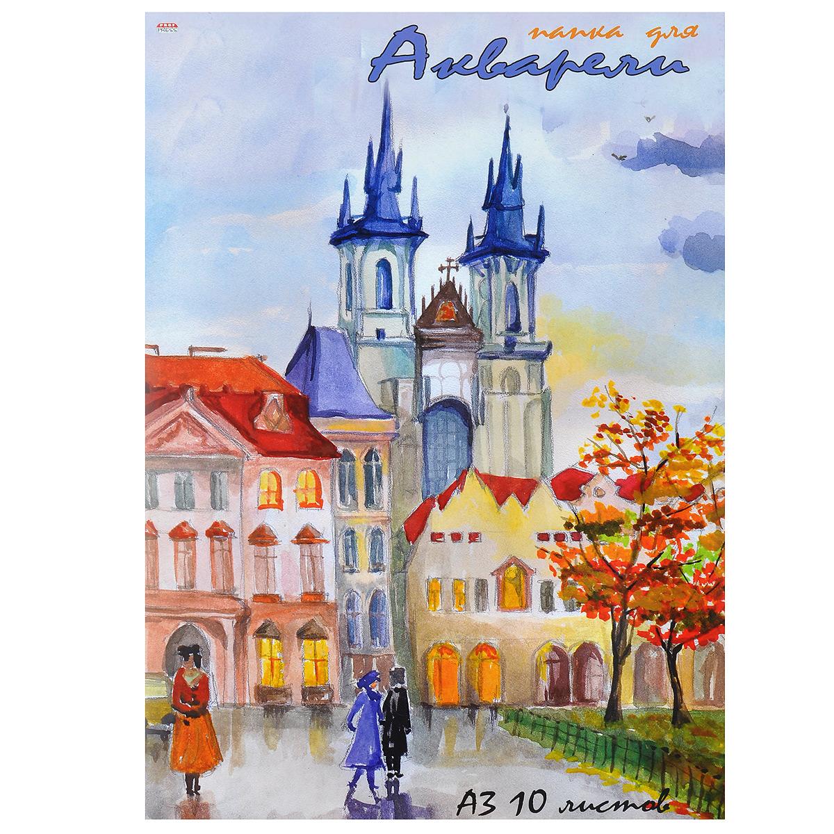 Купить Папка для акварели Prof Press , 10 листов, формат А3. 10-6750, Бумага и картон