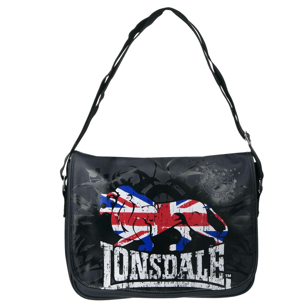 Купить Сумка молодежная Lonsdale , цвет: черный, Kinderline International Ltd.