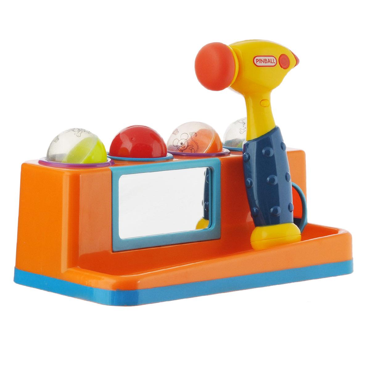 Купить Игрушка-сортер WSBD World , с молотком цвет оранжевый, Junfa Toys Ltd, Развивающие игрушки