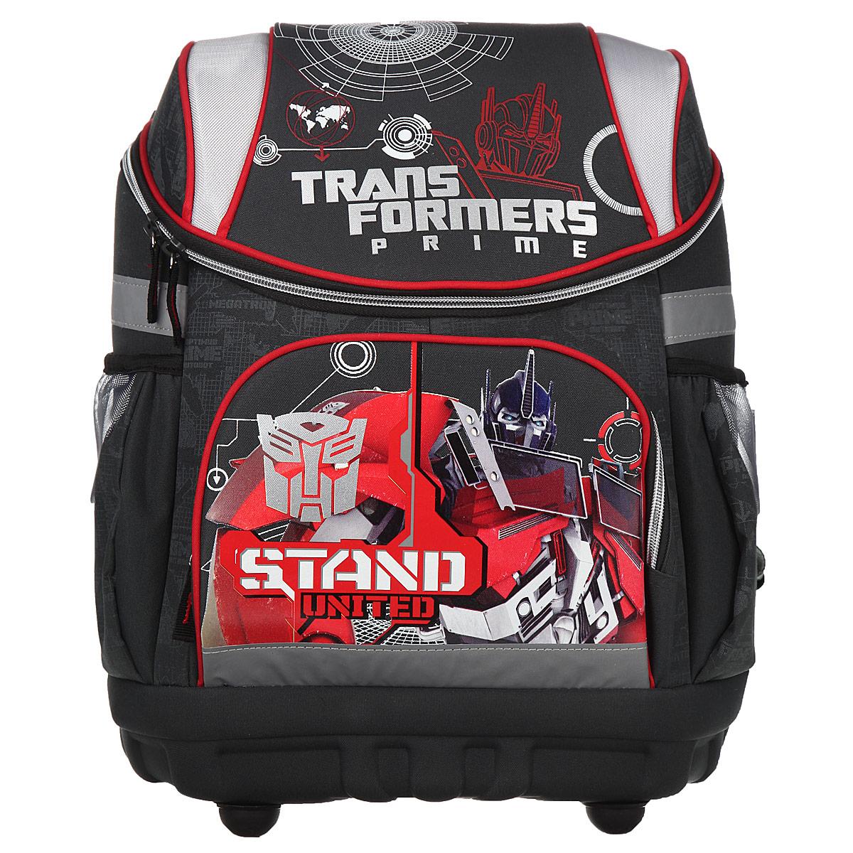 Купить Рюкзак детский Академия Групп Transformers Prime , цвет: серый, красный. TRAB-UT1-135, Kinderline International Ltd.