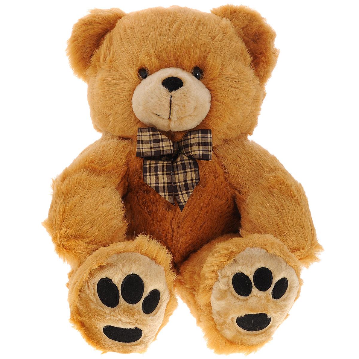 Купить Мягкая игрушка Plush Apple Медведь с бантом , 44 см, Kids First Toys Co., LTD