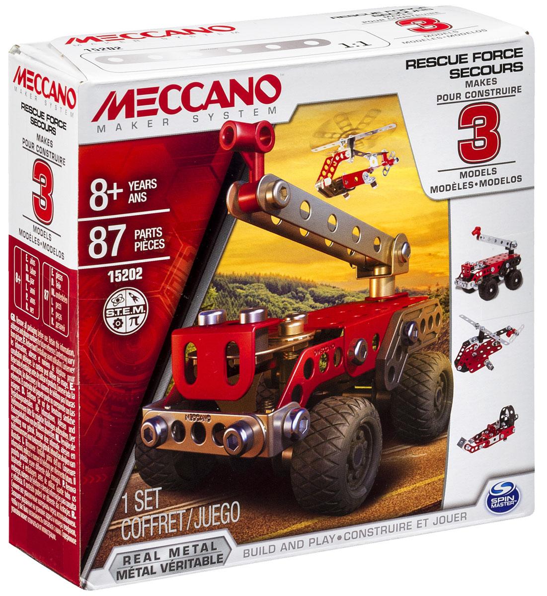 Купить Meccano Конструктор Техника службы спасения 3 в 1, Spin Master, Конструкторы