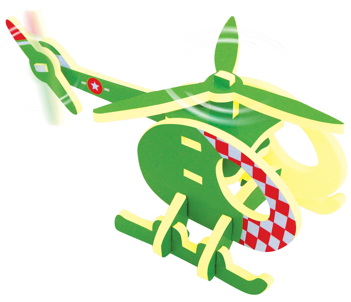 Купить Bebelot 3D мягкий конструктор Вертолет, Биг Три Интернешенел КО., ЛТД.