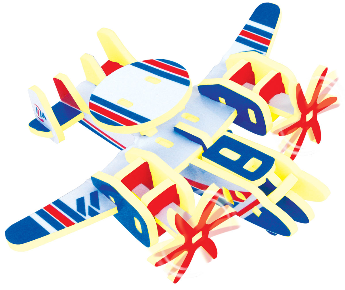 Купить Bebelot 3D мягкий конструктор Самолет-разведчик