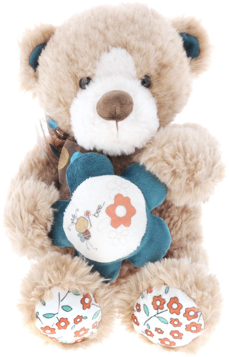 Купить Plush Apple Мягкая игрушка Медведь с цветком 37 см, Kids First Toys Co., LTD, Мягкие игрушки