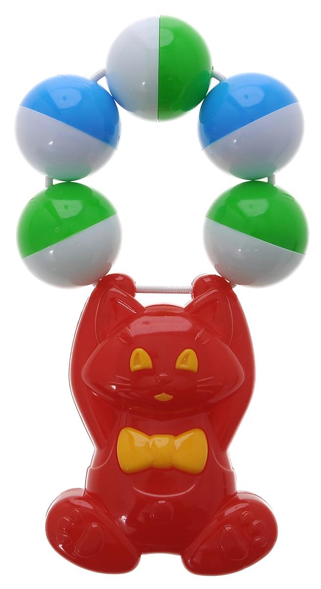Купить Stellar Погремушка Кот , 13 см, цвет: красный. 1539, Стеллар, Первые игрушки