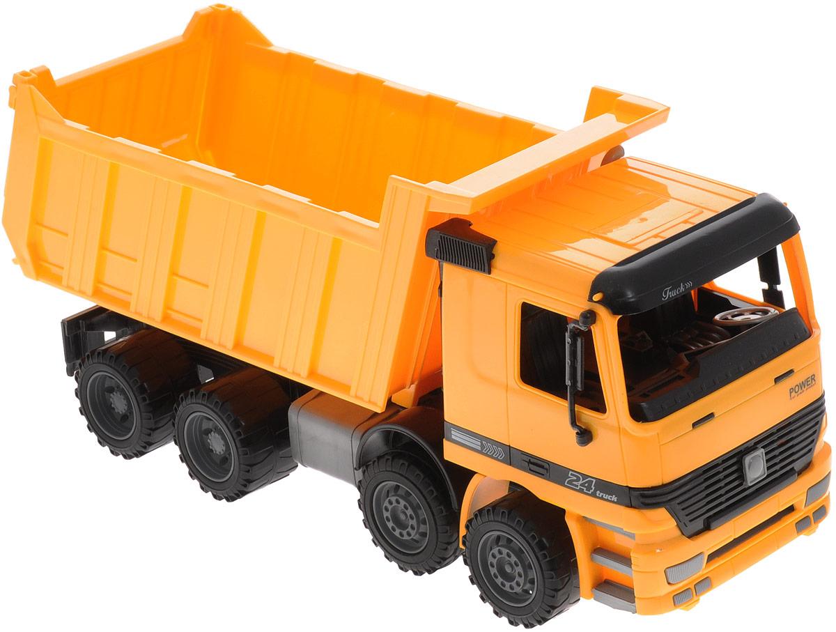 Купить Junfa Toys Самосвал инерционный цвет оранжевый, Junfa Toys Ltd