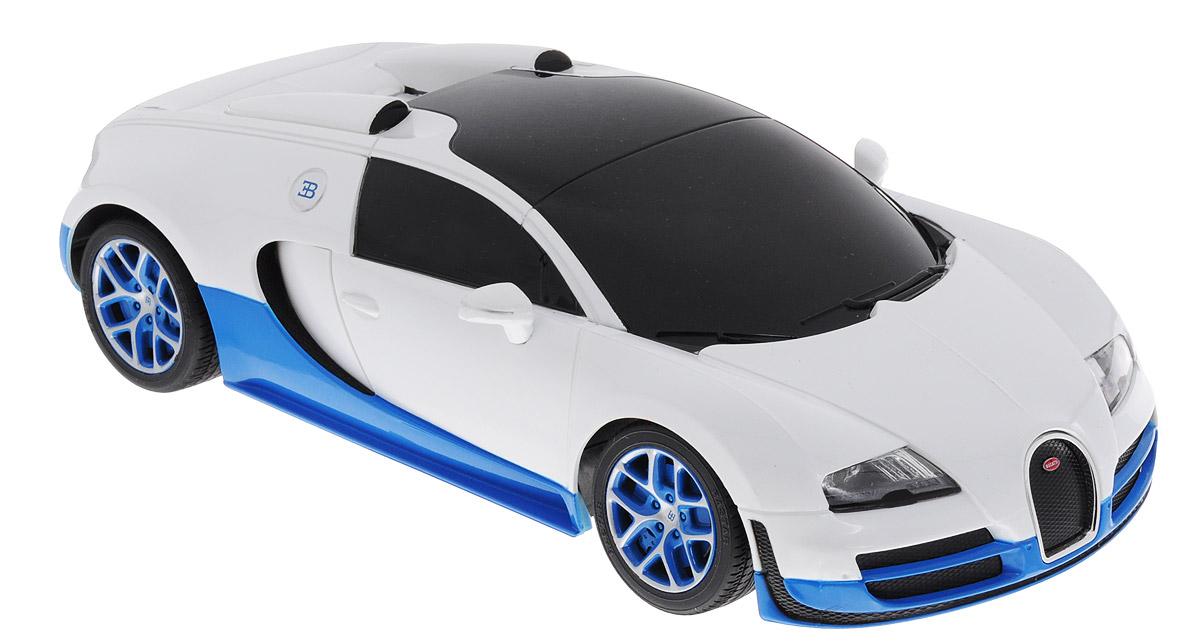 Купить Rastar Радиоуправляемая модель Bugatti Veyron 16.4 Grand Sport Vitesse цвет белый синий масштаб 1:18, Машинки
