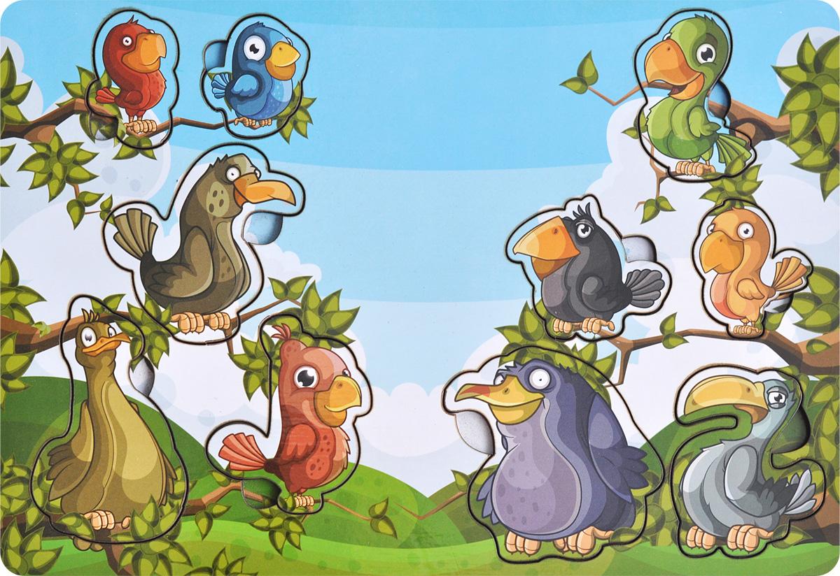 Купить Фабрика Мастер игрушек Рамка-вкладыш Веселые птахи, Тимбергрупп