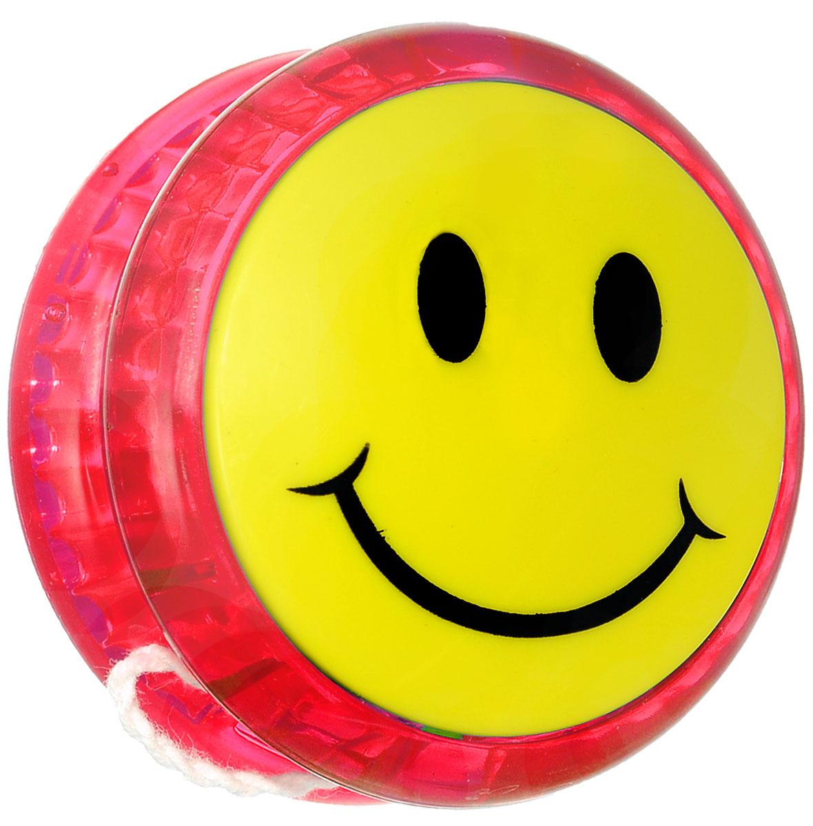 Купить Эврика Йо-йо Смайл цвет красный, Развлекательные игрушки