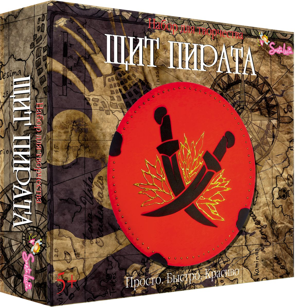 Купить Santa Lucia Набор для изготовления игрушек Щит пирата, Санта Лючия, Игрушки своими руками