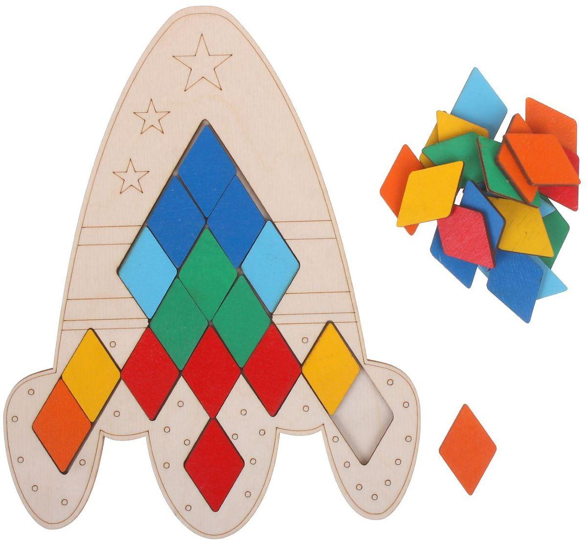 Купить Smile Decor Пазл для малышей Ракета, ИП Монжаев С.М. , Обучение и развитие