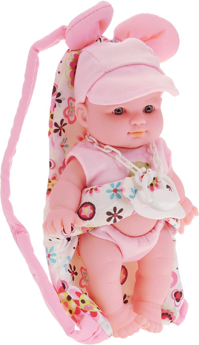 Купить Kido's Пупс в переноске цвет розовый, Guangdong Qunxing Toys Joint-Stock Co., LTD, Куклы и аксессуары