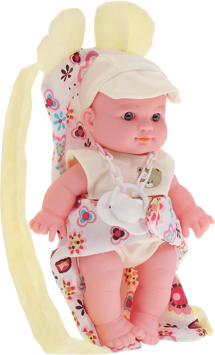 Купить Kido's Пупс в переноске цвет желтый, Guangdong Qunxing Toys Joint-Stock Co., LTD, Куклы и аксессуары