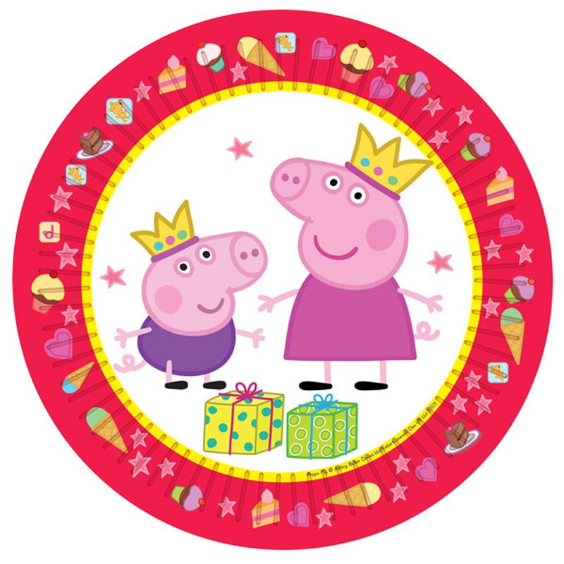 Купить Peppa Pig Тарелка Пеппа-принцесса 6 шт