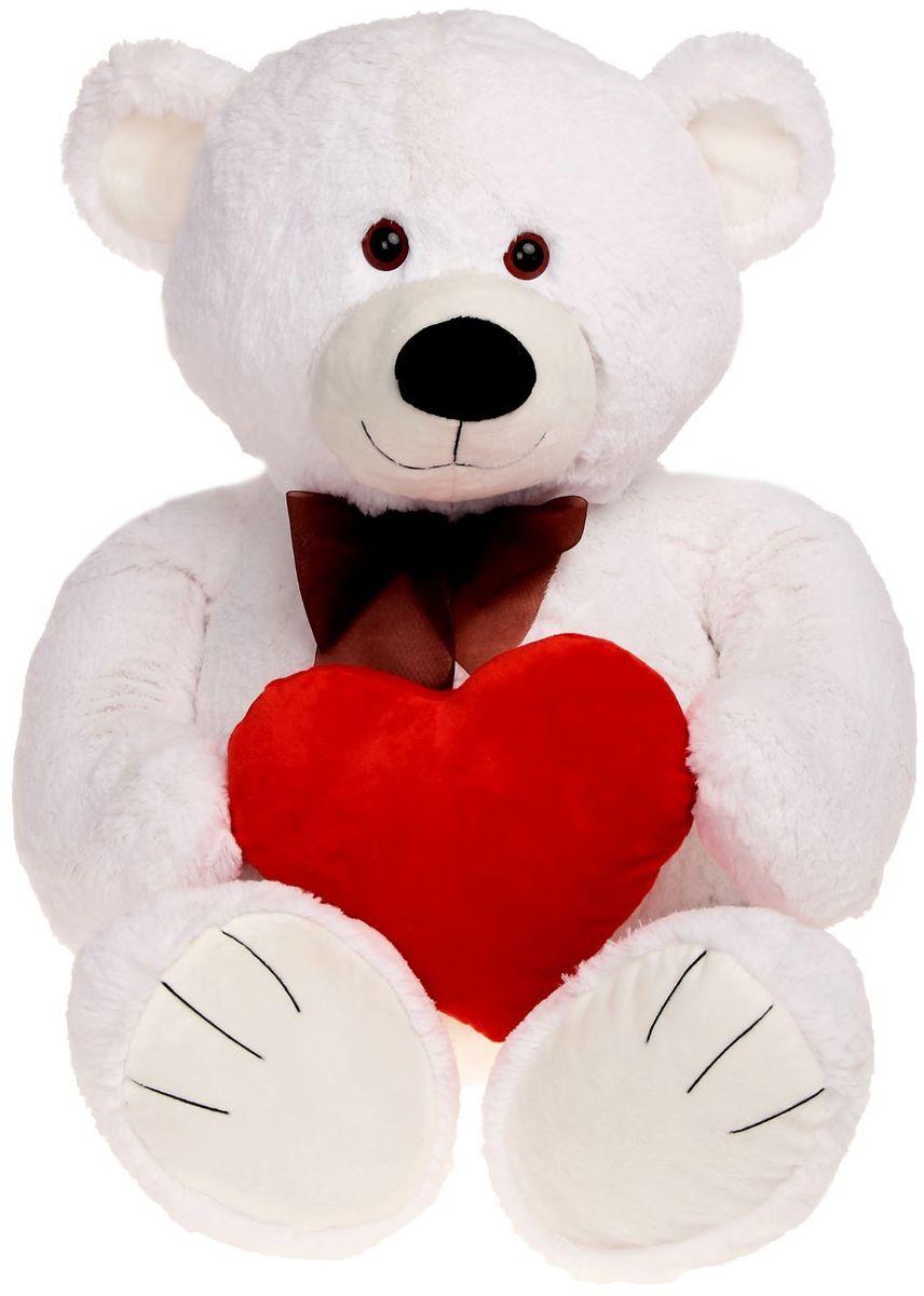 Купить Princess Love Мягкая игрушка Мишка Труди цвет белый 80 см 2057698, Сима-ленд, Мягкие игрушки
