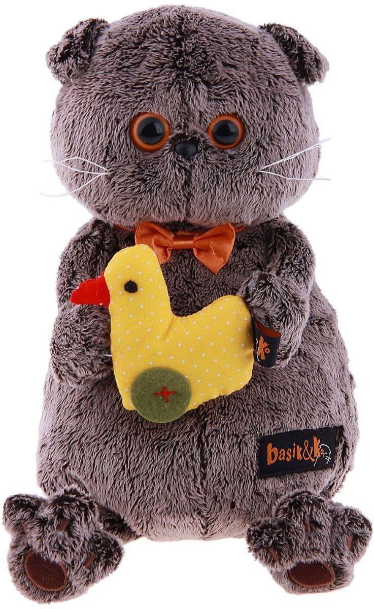 Купить Басик и Ко Мягкая игрушка Басик с уточкой 30 см 279578, Сима-ленд, Мягкие игрушки