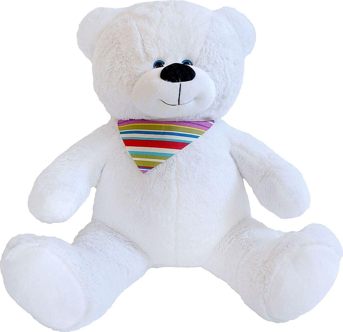 Купить Три мишки Мягкая игрушка Мишка Добрыня цвет белый 70 см, Мягкие игрушки