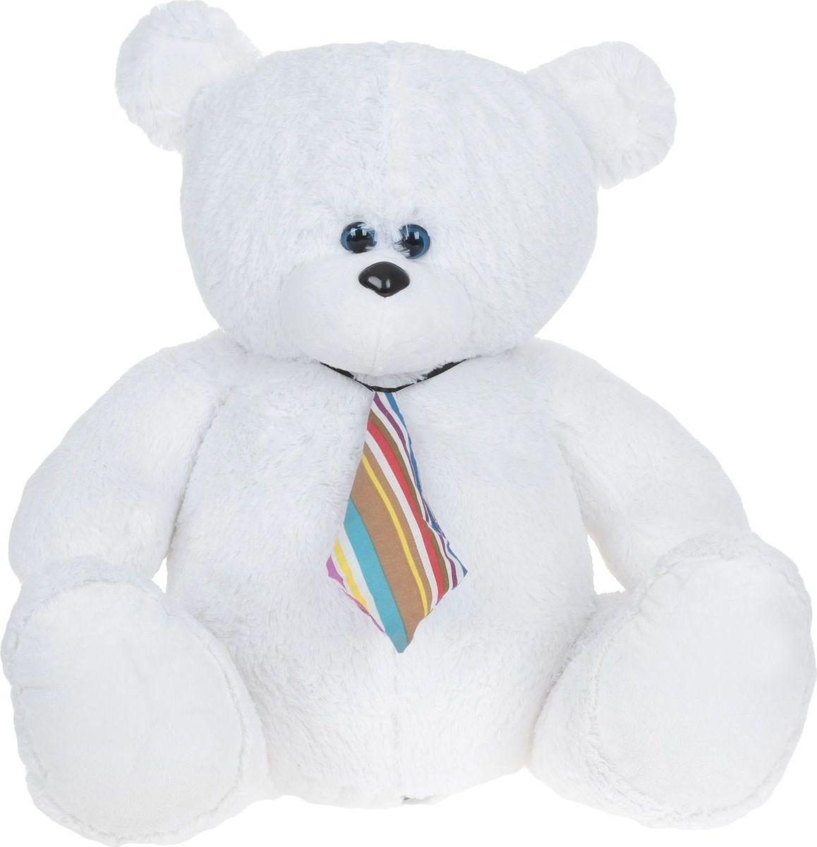 Купить Три мишки Мягкая игрушка Мишка Тедди цвет белый 63 см, Мягкие игрушки