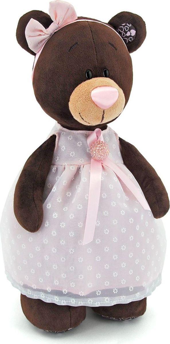 Купить Orange Toys Мягкая игрушка Milk стоячая в платье с брошью 35 см, Мягкие игрушки
