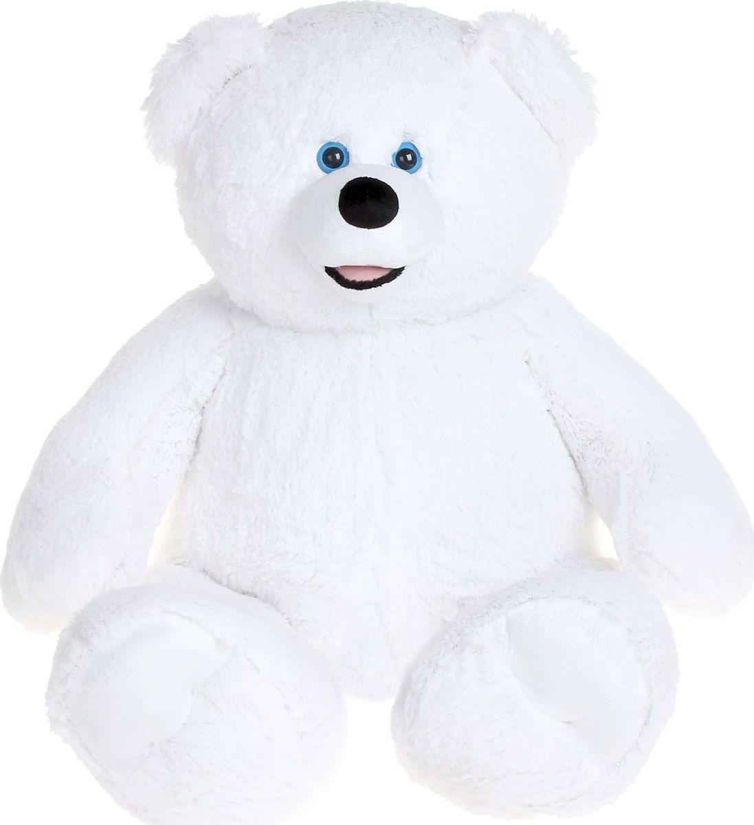 Купить Три мишки Мягкая игрушка Мишка Патрик цвет белый 60 см, Мягкие игрушки