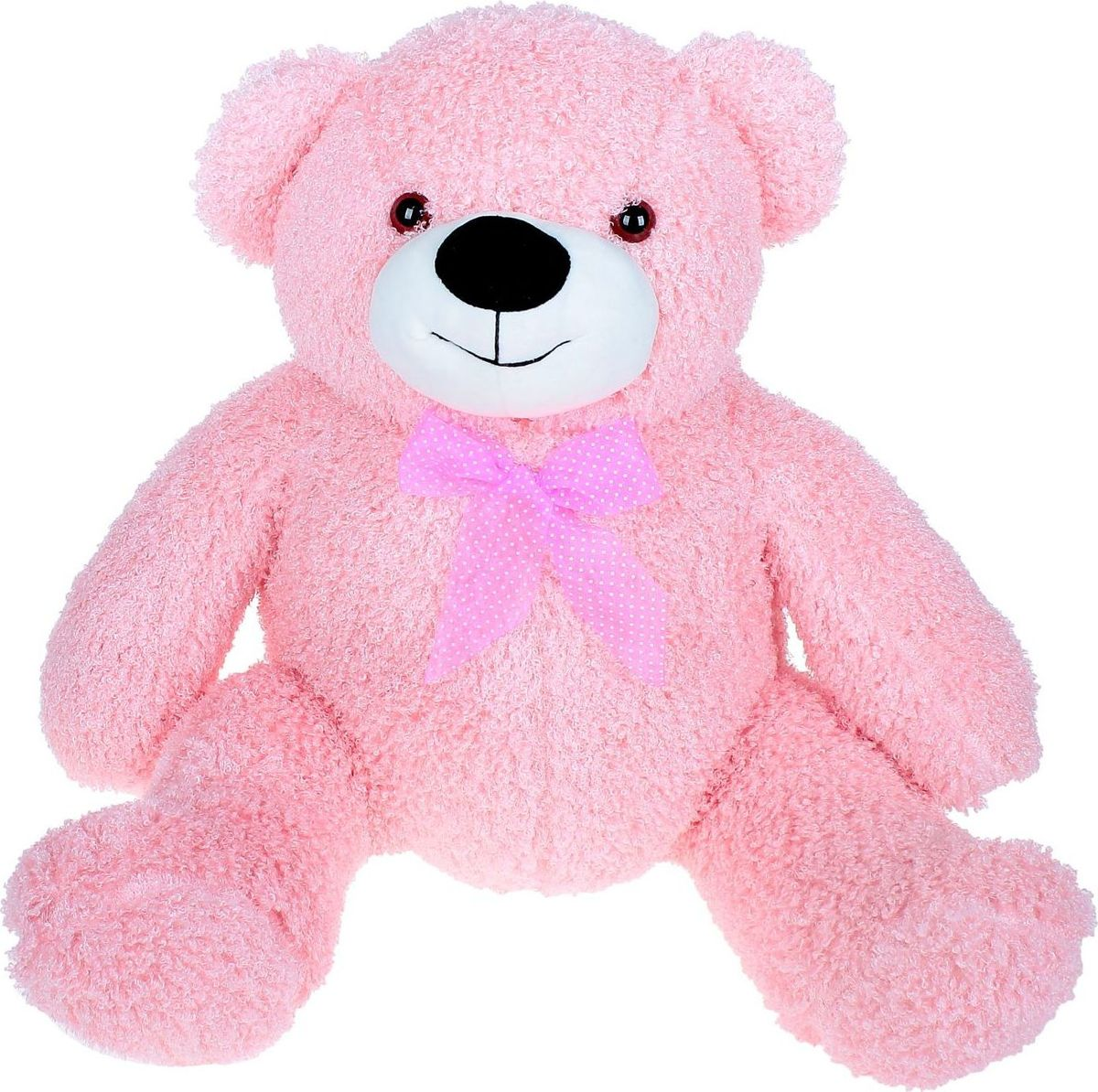 Купить Sima-land Мягкая игрушка Медведь кудрявый цвет розовый 60 см, Мягкие игрушки
