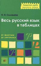 Весь русский язык в таблицах. От фонетики до синтаксиса, Н. Н. Соловьева