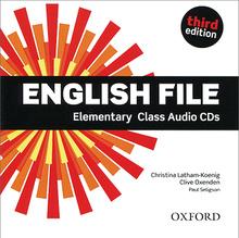 English File: Elementary: Class Audio CDs (аудиокурс на 4 CD),