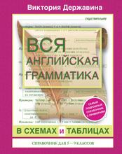 Вся английская грамматика в схемах и таблицах. Справочник для 5-9 классов, В.А. Державина