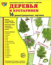 Деревья и кустарники (набор из 16 демонстрационных картинок), Т. В. Цветкова, Т. А. Шорыгина